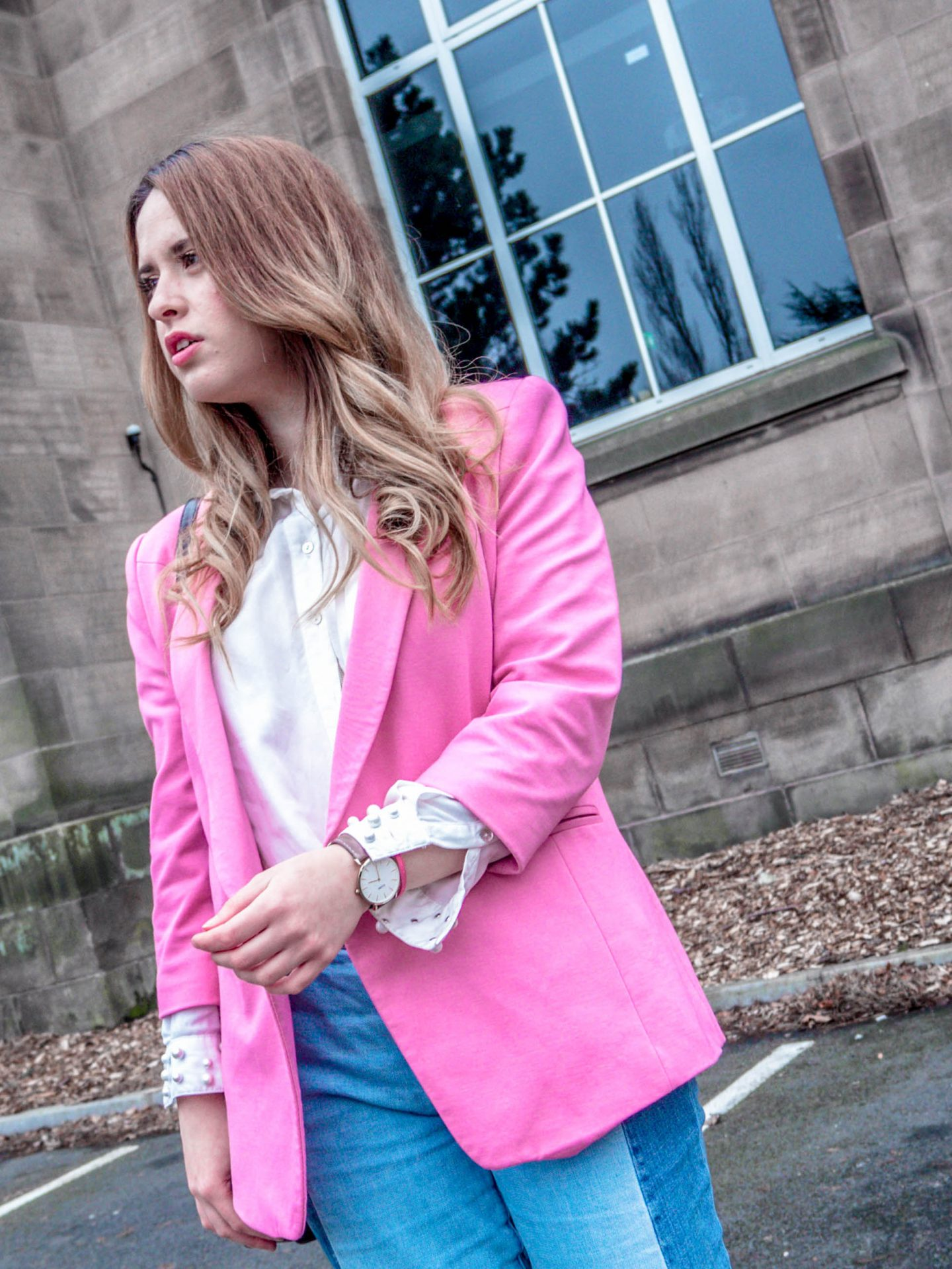 ted-baker-spring-2018-pink-blazer-thrifted-style